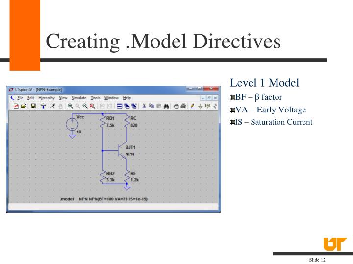 Creating .Model Directives