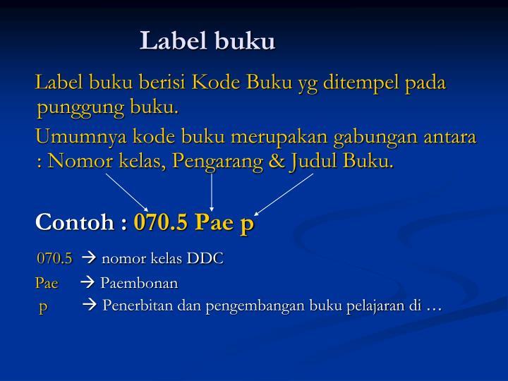Label buku