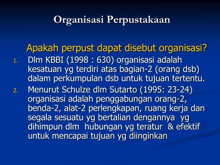 Organisasi Perpustakaan