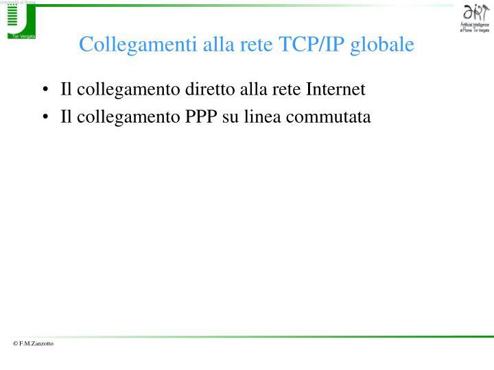 Collegamenti alla rete TCP/IP globale