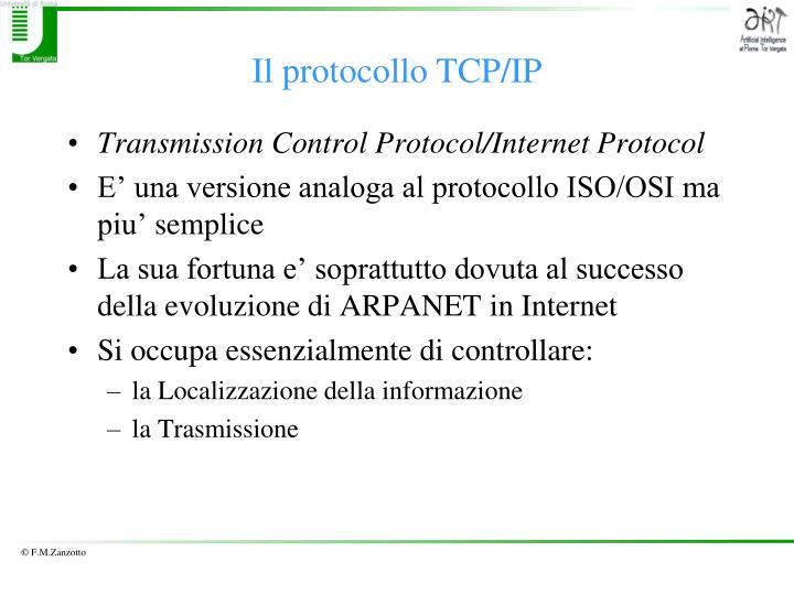 Il protocollo TCP/IP