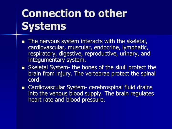 relationship between integumentary system and other body systems