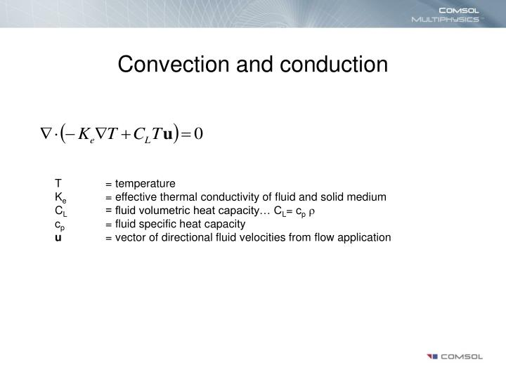 Convection and conduction
