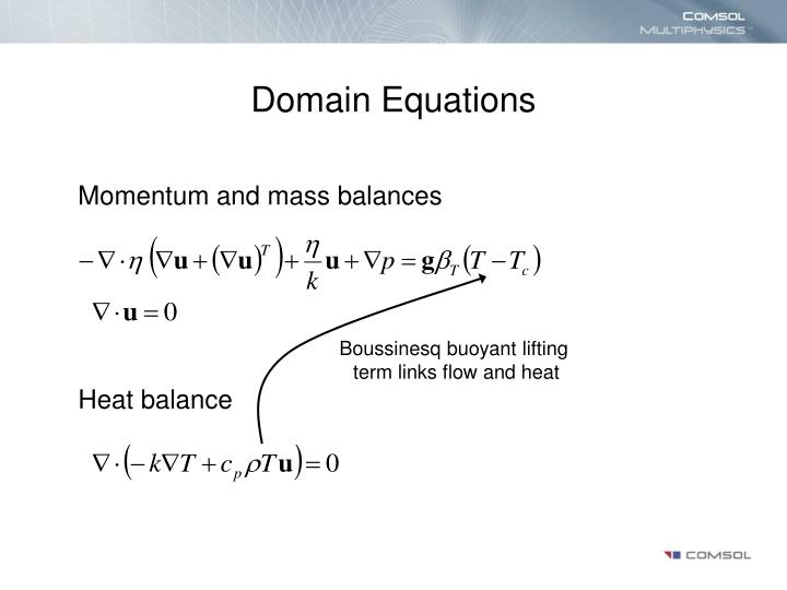 Domain Equations