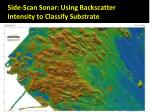 side scan sonar using backscatter intensity to classify substrate