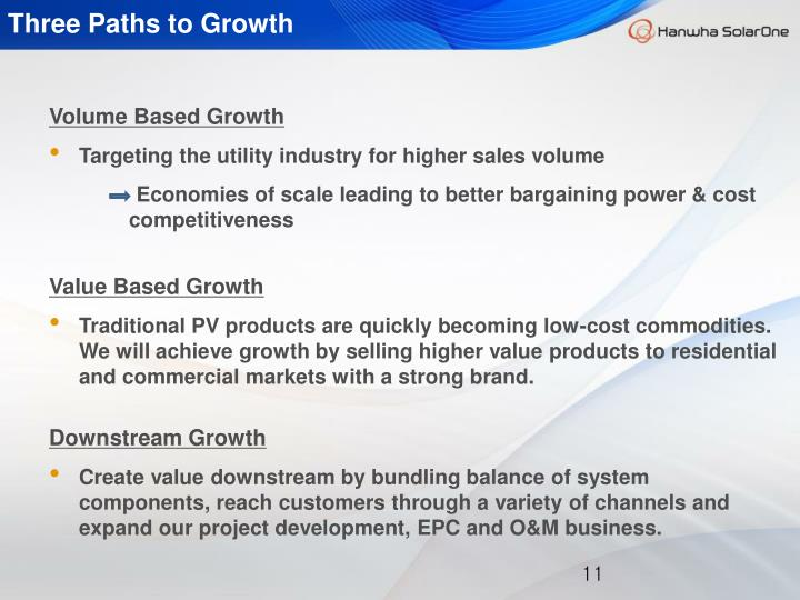 Three Paths to Growth