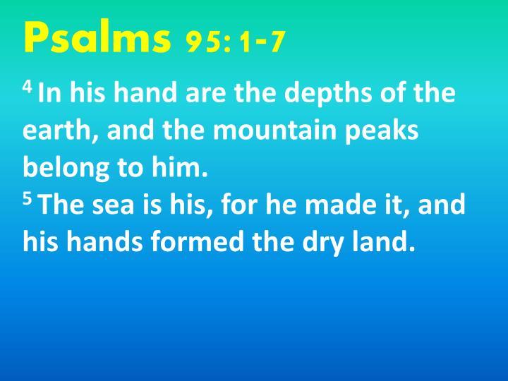 Psalms 95:1-7