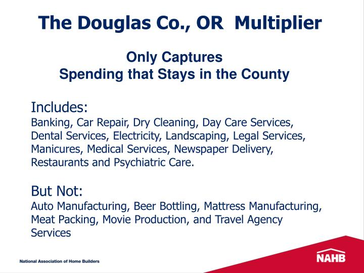 The Douglas Co., OR  Multiplier