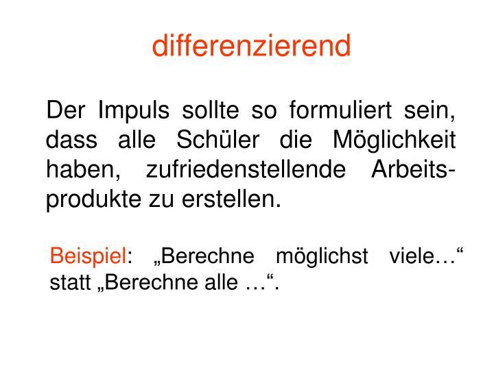 differenzierend