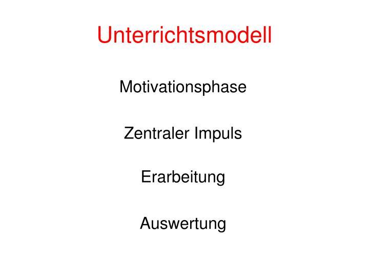 Unterrichtsmodell