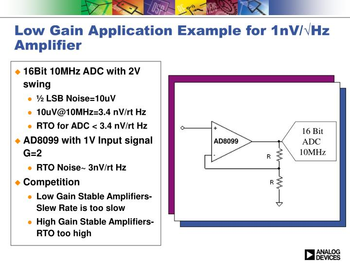 Low Gain Application Example for 1nV/