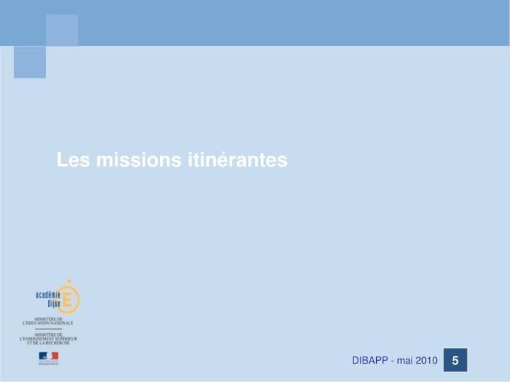 Les missions itinérantes