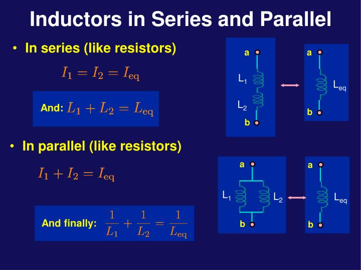 Inductors in series and parallel