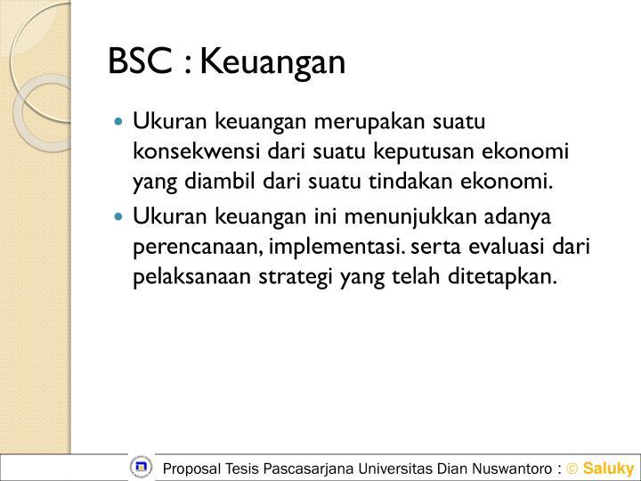 BSC : Keuangan