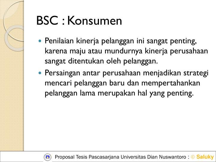 BSC : Konsumen