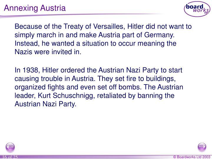 Annexing Austria