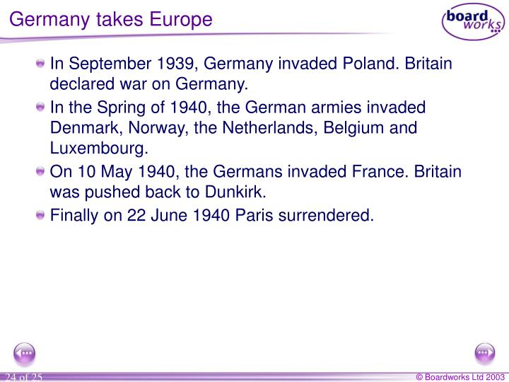 Germany takes Europe