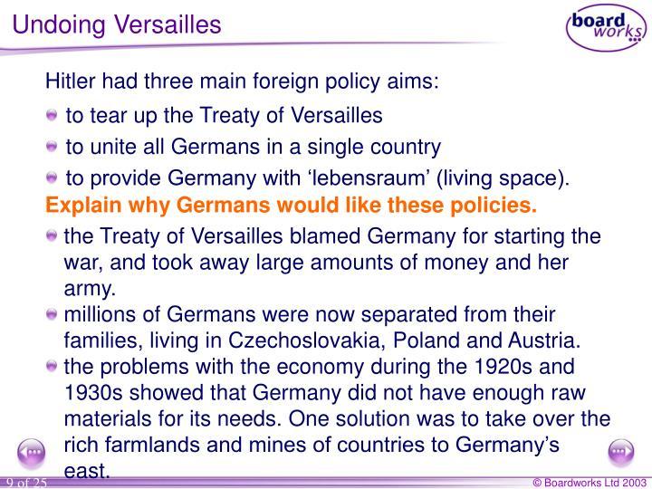 Undoing Versailles