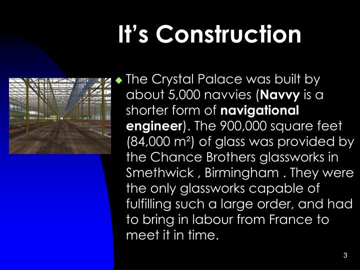 It's Construction