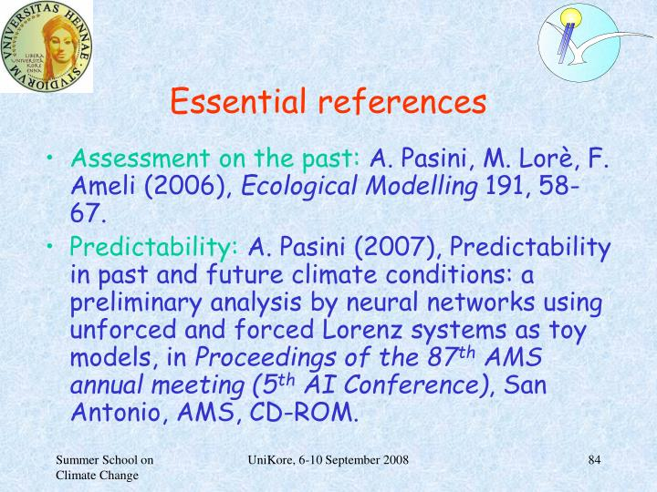 Essential references