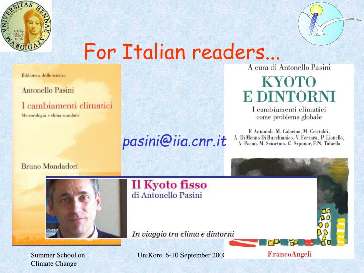 For Italian readers...