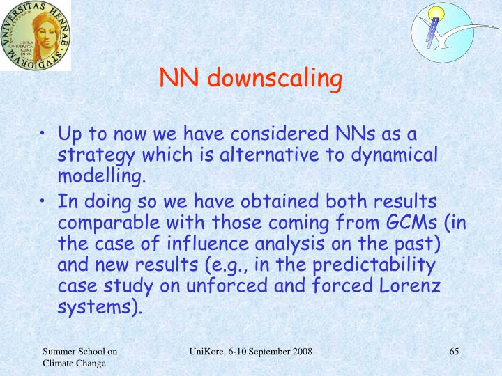 NN downscaling