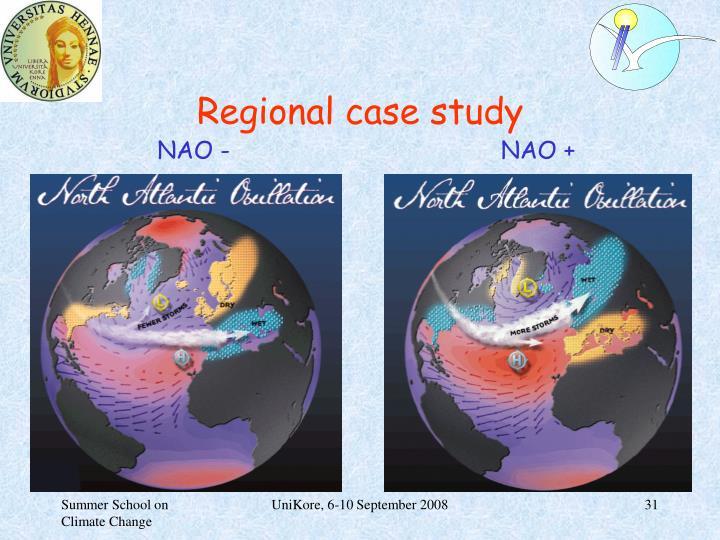 Regional case study