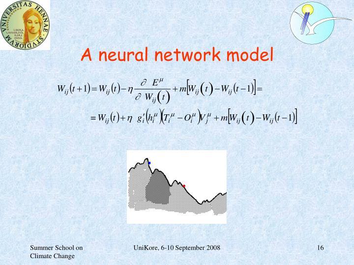 A neural network model