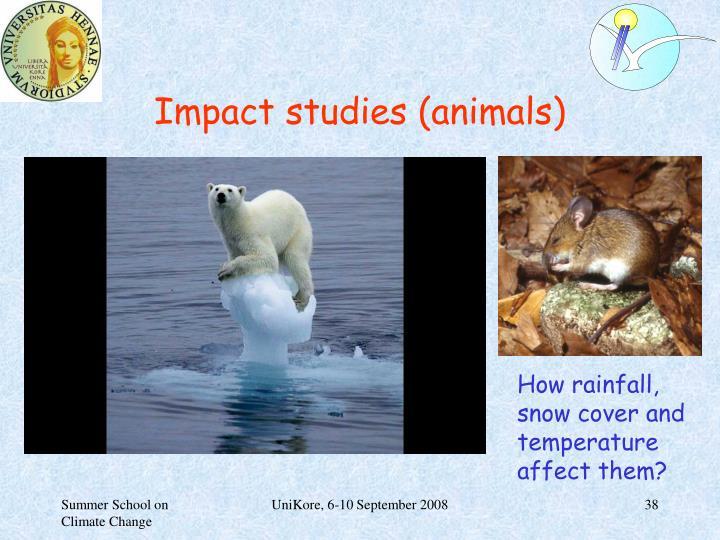 Impact studies (animals)