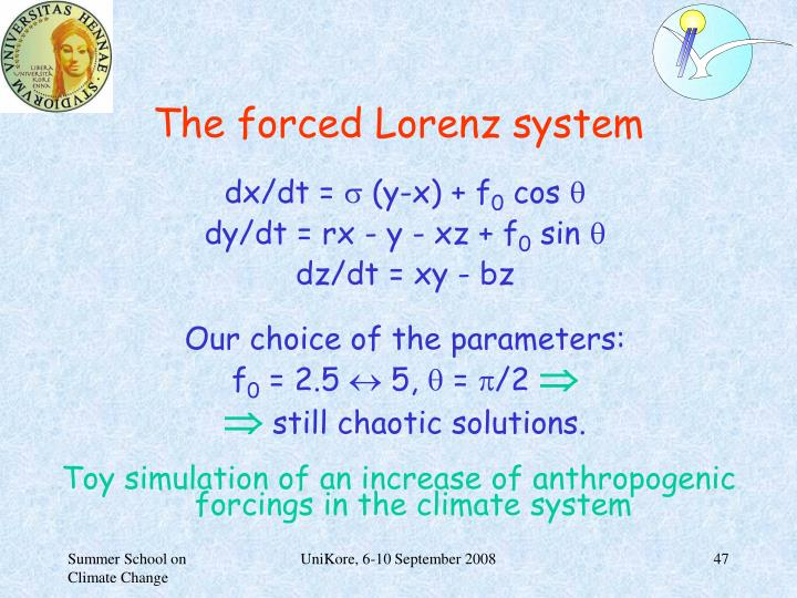 The forced Lorenz system