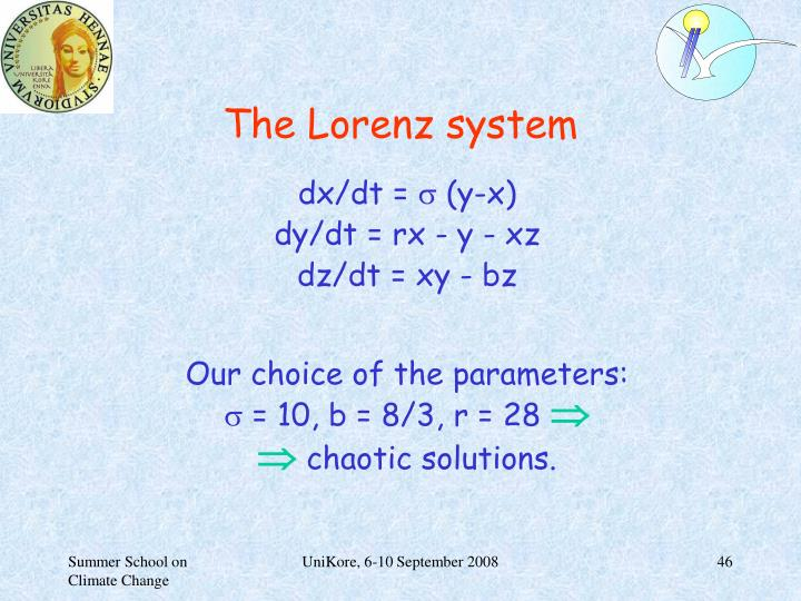 The Lorenz system