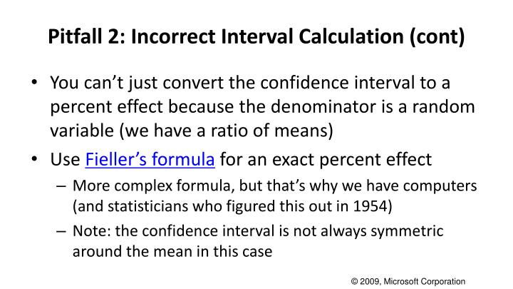 Pitfall 2: Incorrect Interval Calculation (cont)