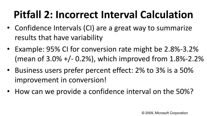 Pitfall 2: Incorrect Interval Calculation