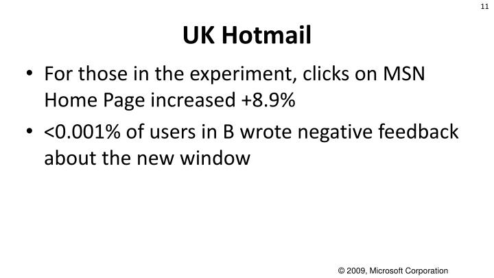 UK Hotmail