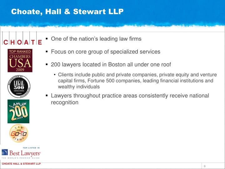 Choate, Hall & Stewart LLP