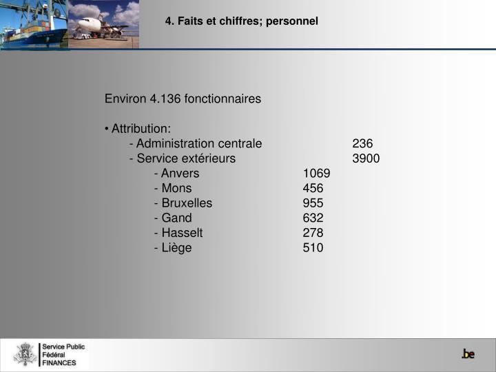4. Faits et chiffres; personnel