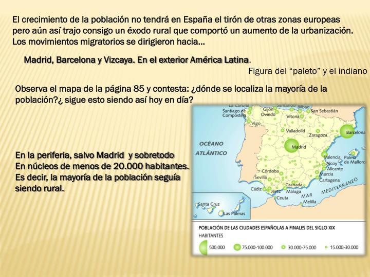 El crecimiento de la población no tendrá en España el tirón de otras zonas europeas
