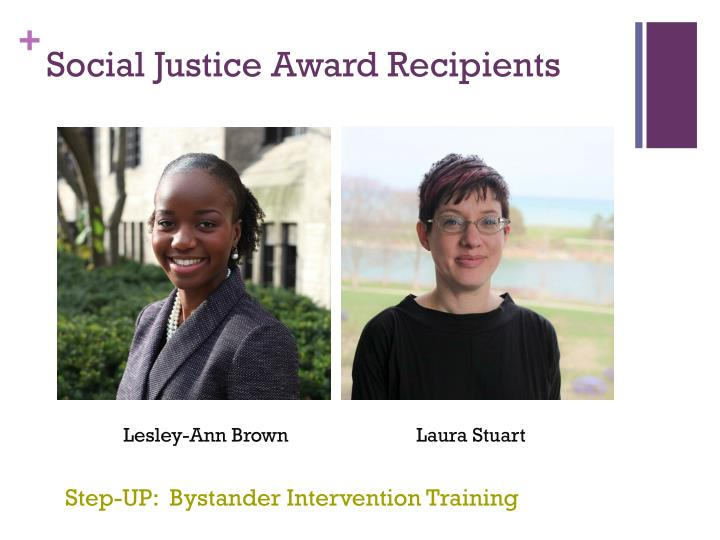 Social Justice Award Recipients