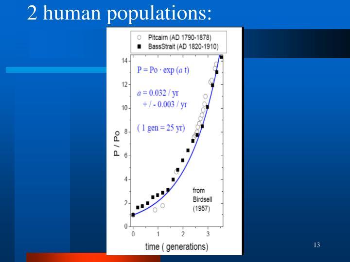 2 human populations: