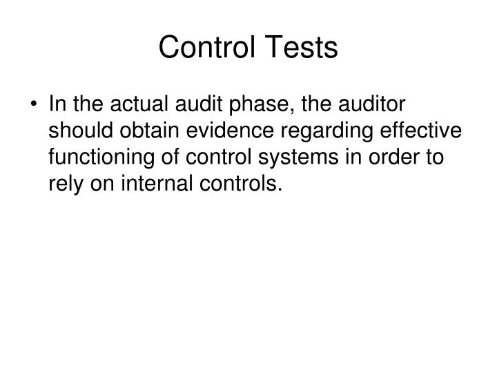 Control Tests
