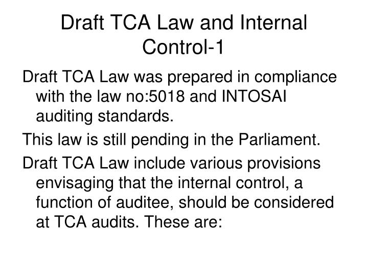 Draft TCA Law and Internal Control-1
