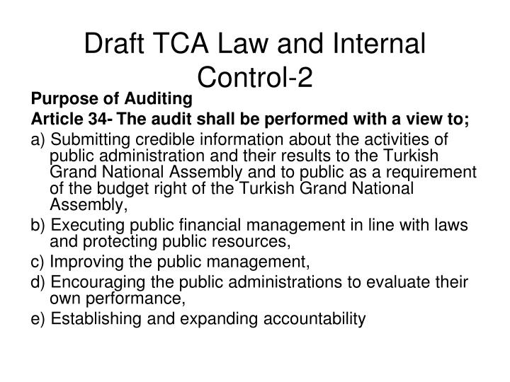 Draft TCA Law and Internal Control-2