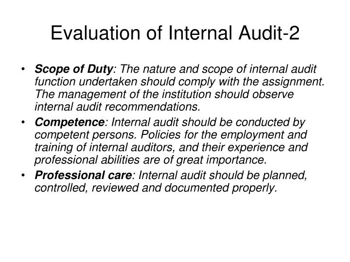 Evaluation of Internal Audit-2