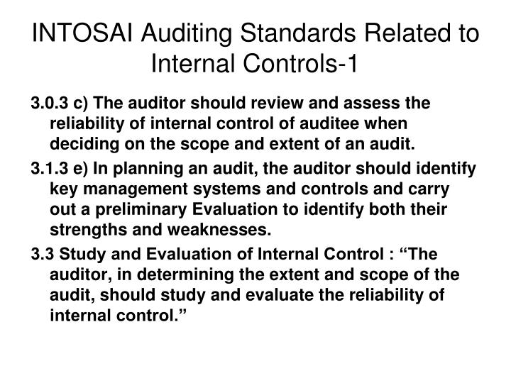 INTOSAI Auditing Standards Related to Internal Controls-1