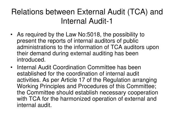 Relations between External Audit (TCA) and Internal Audit-1