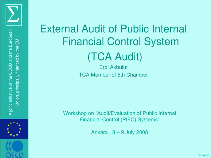 External Audit of Public Internal Financial Control System