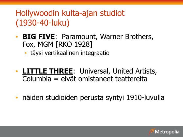 Hollywoodin kulta-ajan studiot