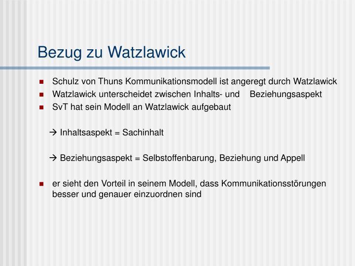 Bezug zu Watzlawick