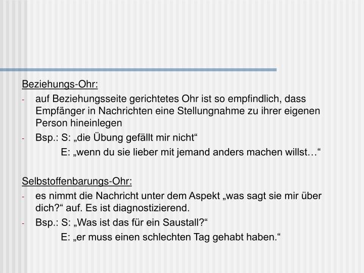 Beziehungs-Ohr: