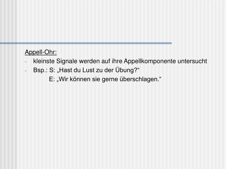 Appell-Ohr: